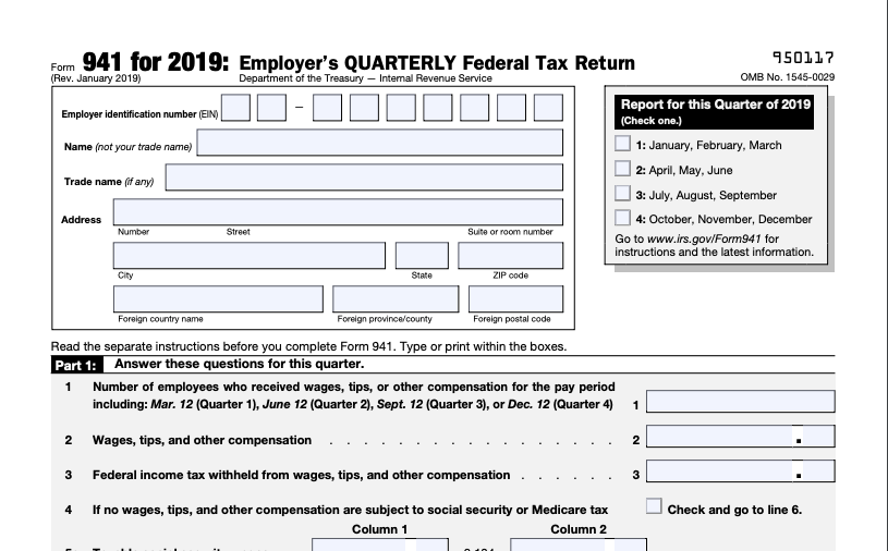What Employers Need to Know about 941 Quarterly Tax Return?